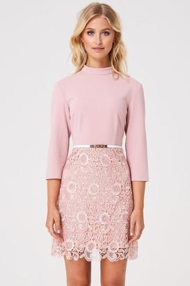 Little Mistress Paper Dolls Fulham Pink Lace Shift Dress