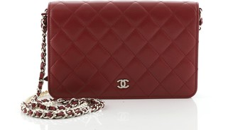 Chanel Pearl Wallet on Chain Quilted Lambskin