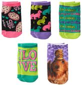Pink Cookie Girls 5-pk. Cookie Dog No-Show Socks