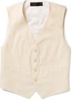 Haider Ackermann White Cotton-Twill Waistcoat