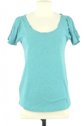 Marc by Marc Jacobs Turquoise Cotton Top for Women