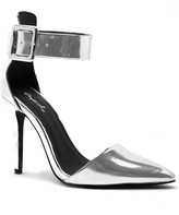 Qupid Metallic Ankle Strap Court Shoes