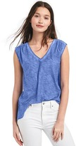 Gap Jersey shirred V-neck top