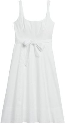 Banana Republic Linen-Cotton Square-Neck Dress