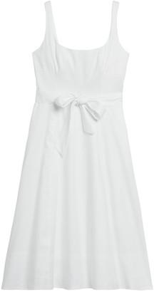 Banana Republic Linen-Cotton Square-Neck Dress