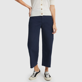 Banana Republic High-Rise Wide-Leg Cropped Chinos Pants - 0