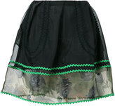 Coach sheer detail mini skirt - women - Silk/Cotton/Polyamide/Polyester - 0