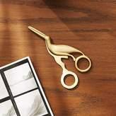 CB2 Solid Brass Studio Bird Scissors