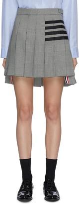 Thom Browne Four bar pleat check mini skirt