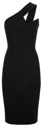 Dorothy Perkins Womens Vesper Black One Shouldered Bodycon Pencil Dress, Black