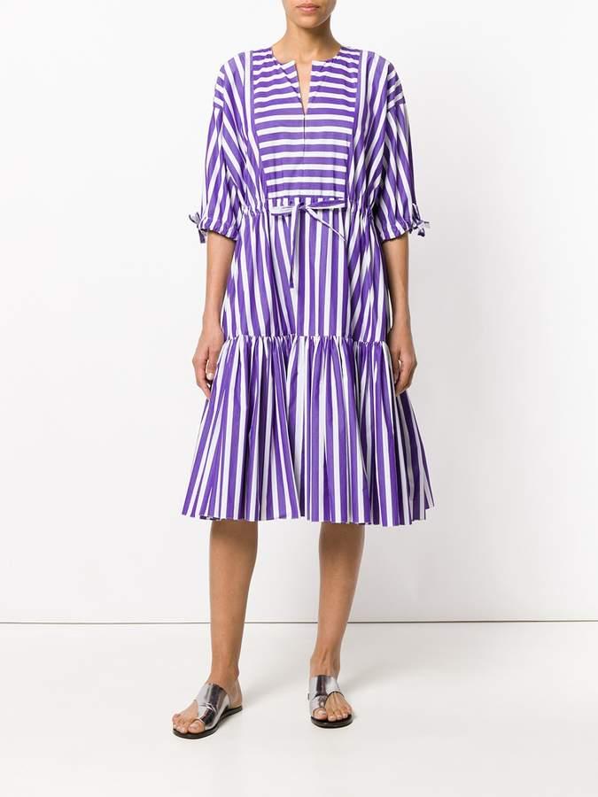 Maison Rabih Kayrouz Striped flared dress