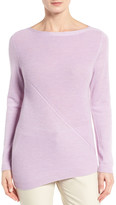 Nordstrom Asymmetrical Textured Cashmere Pullover