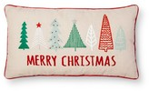 Threshold Sour Cream Merry Christmas Tree Oblong Throw Pillow