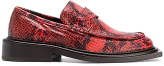 Martine Rose Embossed Snakeskin Effect Loafers