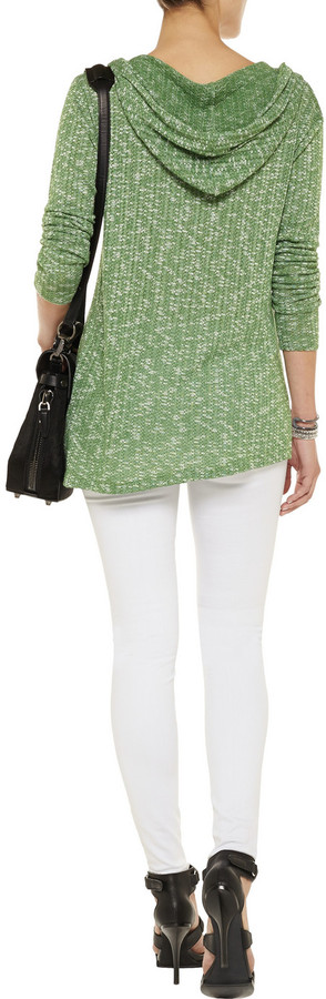 LnA Blythe cotton-blend hooded sweater