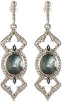 Armenta New World Oval Open-Cross Drop Earrings w/ Diamonds