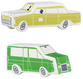 Kate Spade About Town Car Salt and Pepper Set-GREEN & YELLOW