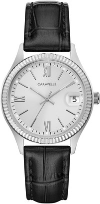 Bulova Caravelle by Women's Textured Leather Band Watch