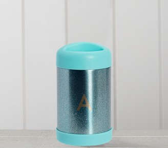 Pottery Barn Kids Aqua Glitter Hot & Cold Container