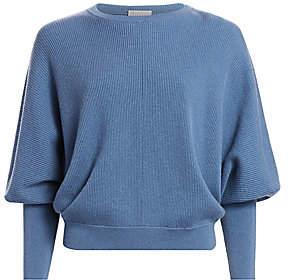 Brunello Cucinelli Women's Balloon-Sleeve Cashmere Sweater