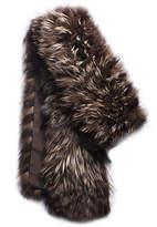 Michael Kors Tweed Fox Fur Scarf