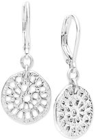 lonna & lilly Silver-Tone Openwork Disc Drop Earrings