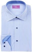 Lorenzo Uomo Stripe Trim Fit Dress Shirt