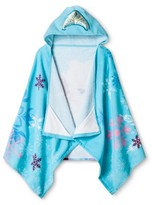 Disney Frozen Anna & Elsa Hooded Towel - Blue