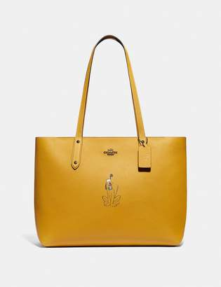 Coach Disney X Central Tote With Zip With Pluto Motif