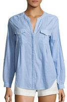 Joie Kalanchoe Striped Chambray Blouse