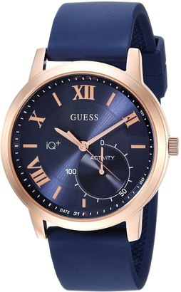 GUESS Men's Connect Fitness Stainless Steel Quartz Watch with Silicone Strap