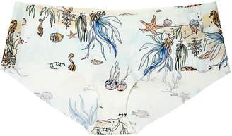 Uwila Warrior Happy Seams Sea-Print Brief Panties