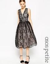 Asos Premium Contrast Lace Midi Prom Dress