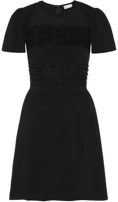RED Valentino Lace and knit minidress