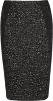 Donna Karan Tweed and jersey pencil skirt