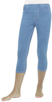 Me Moi Light Wash Denim Capri Jeggings