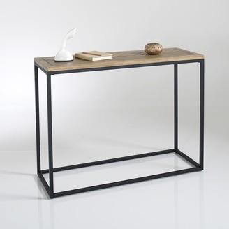 La Redoute La NOTTINGHAM Parquet Wood & Metal Console Table