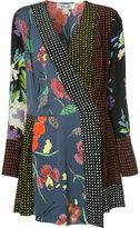Diane von Furstenberg wrap front print dress - women - Silk/Spandex/Elastane - M