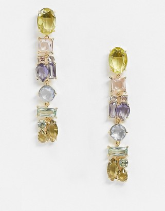 And other stories & multi stone pendant earrings in multi
