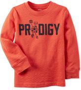Carter's Toddler Boys' Long-Sleeve Orange Graphic-Print T-Shirt.