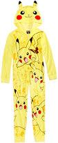 Pokemon Pikachu Hooded Pajamas, Little Boys (4-7) & Big Boys (8-20)