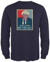 Old Glory Election 2016 Bernie Sanders Not For Sale Navy Adult Long Sleeve T-Shirt