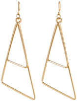 Natasha Accessories Gold-Tone Dual Geometric Drop Earrings