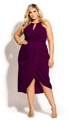 City Chic Love Story Dress - cerise