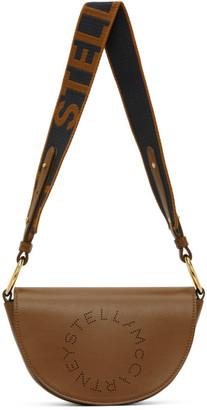 Stella McCartney Brown Alter Nappa Marlee Logo Bag