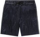 Lanvin - Piped Cotton-blend Satin Shorts