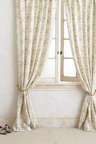 Anthropologie Wildflower Applique Curtain