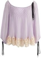 Chloé Purple Top