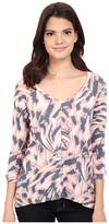 Calvin Klein Jeans Printed 3/4 Sleeve Slub Tee