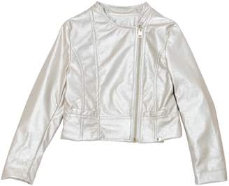 MISS GRANT Metallic Faux Leather Biker Jacket